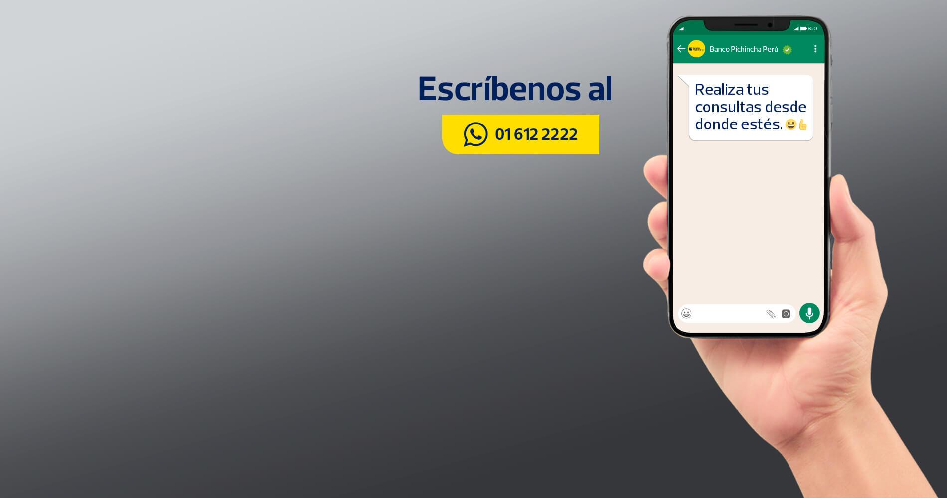 ¡Llegó el nuevo WhatsApp del Banco Pichincha!